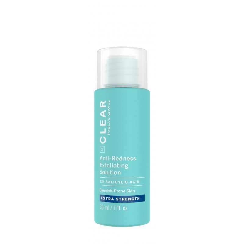 Clear Extra Strength Anti-Redness Exfoliating Solution With 2% Salicylic Acid Travel Size