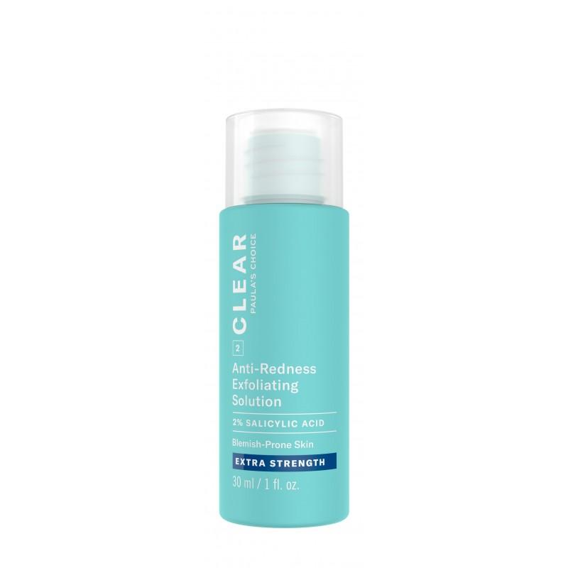 Clear Extra Strength Anti-Redness Exfoliating Solution With 2% Salicylic Acid Travel Size