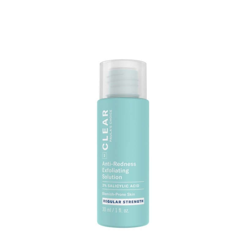 Clear Regular Strength Anti-Redness Exfoliating Solution With 2% Salicylic Acid Travel Size